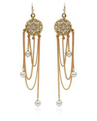 Lulu Frost | Metallic Goldtone Coquille Pearl Drop Earrings | Lyst