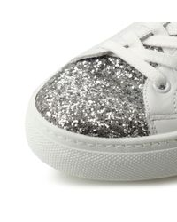 Dune | White Elijah Glitter Lace Up Trainers | Lyst