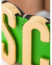 Moschino | Green Logo Plaque Cuff | Lyst