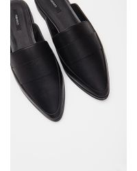 Forever 21 | Black Pointed Faux Leather Loafers You've Been Added To The Waitlist | Lyst