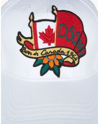 DSquared² - Multicolor Embroidered Patch Canvas Baseball Hat for Men - Lyst