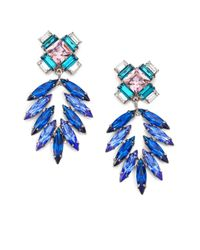 DANNIJO | Blue Simon Crystal Chandelier Earrings | Lyst
