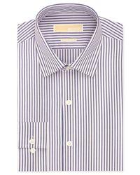 Michael Kors - Michael Non-Iron Blue And Pink Stripe Dress Shirt for Men - Lyst
