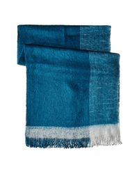 BCBGMAXAZRIA - Blue Brushed Color-blocked Wrap Scarf - Lyst