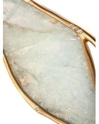 Monique Péan | Blue Diamond Aquamarine Gold Earrings | Lyst