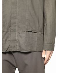 Silent - Damir Doma - Natural Cotton Paper Poplin Shirt for Men - Lyst