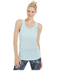 PUMA | Blue Burnout Tank Top | Lyst