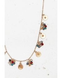 Forever 21 | Multicolor Flower Etched Bead Necklace | Lyst