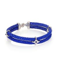 Stinghd | Blue Sapphire, Silver & Stingray Star Wrap Bracelet for Men | Lyst