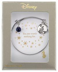 Disney - Metallic Some Worth Melting For Charm Bangle Bracelet In Sterling Silver - Lyst