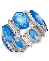 Style & Co. | Silver-tone Blue Oval Foil Bracelet | Lyst
