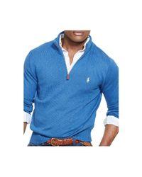 Polo Ralph Lauren - Blue Half-zip Mockneck Sweater for Men - Lyst