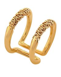 Chloé | Metallic Hope Chain Double Ring | Lyst