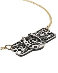ASOS - Metallic Horse Shoe Bracelet - Lyst