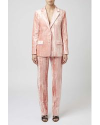 TOPSHOP - Pink Mayall Trousers By Unique - Lyst