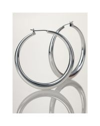 Ralph Lauren | Metallic Large Silver Hoop Earrings | Lyst