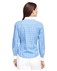 Brooks Brothers - Blue Non-iron Fitted Windowpane Dress Shirt - Lyst