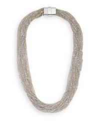 Saks Fifth Avenue - Metallic Multi-Chain Necklace/Silvertone - Lyst