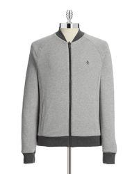 Original Penguin | Gray Reversible Track Sweater for Men | Lyst