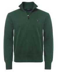 Gant - Green Sacker Half-Zip Sweater for Men - Lyst