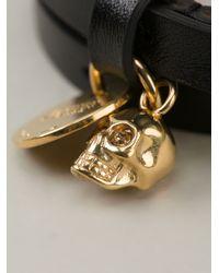 Alexander McQueen - Black Wraparound Bracelet for Men - Lyst