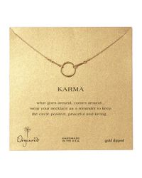 Dogeared | Metallic Gold Dipped Karma Necklace | Lyst