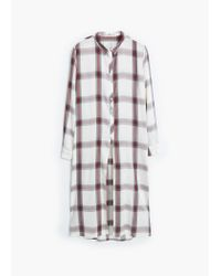 Mango | White Check Shirt | Lyst