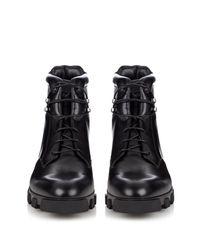 Balenciaga - Black Ice Trekker Leather Boots for Men - Lyst