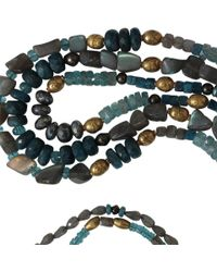 Royal Nomad Jewelry - Blue Three Strand Labradorite And Aquamarine Necklace for Men - Lyst