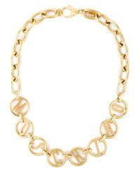 Moschino - Metallic Symbols Charm Necklace - Lyst
