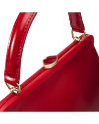 Lulu Guinness - Red Polished Leather Small Eva - Lyst