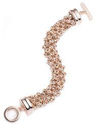 Anne Klein | Pink Drama Crystal Cluster Bracelet | Lyst