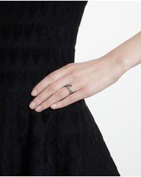 Rosa De La Cruz - Brown Love 18k Oxidised Gold And Diamond Ring - Lyst