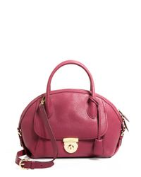 Ferragamo | Red Satchel - Medium Fiamma | Lyst