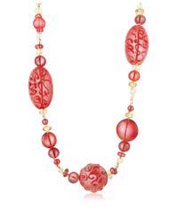 Antica Murrina | Red Caprice Murano Glass Long Necklace | Lyst