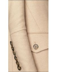 Burberry - Natural Oversize Detail Cashmere Coat - Lyst