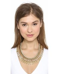Adia Kibur - Green Crystal Statement Necklace - Lyst