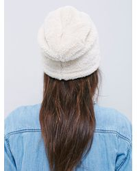 Free People | White Bickley & Mitchell Womens Polar Bear Cozy Beanie | Lyst