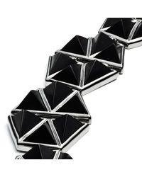 Eddie Borgo | Metallic Gunmetal Plate Bracelet | Lyst