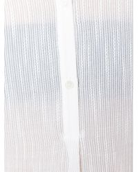 Vince - White Band Collar Shirt - Lyst