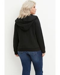 Forever 21 | Black Plus Size Zip-up Hoodie | Lyst
