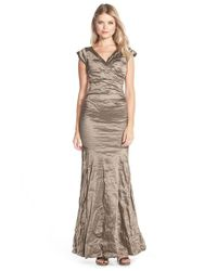 Nicole Miller | Green Techno Metal Mermaid Gown | Lyst
