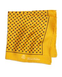 Brooks Brothers - Yellow Flower Pocket Square for Men - Lyst