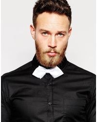 ASOS - Bow Tie In Checkerboard White for Men - Lyst