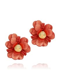 Tory Burch - Red Pentier Rose Earring - Lyst