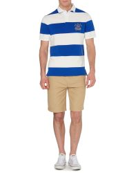 Howick - Blue California Block Stripe Short Sleeve Rugby for Men - Lyst