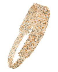 Tasha | Natural Beaded Crystal Head Wrap - Metallic | Lyst