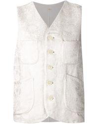Dosa - Gray Contrast Wool Tunic  - Lyst