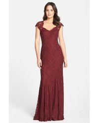 Tadashi Shoji | Red Tadashi 'auburn' Corded Lace Gown | Lyst