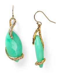 Alexis Bittar | Green Chrysoprase Crystal Suspended Vine Earrings | Lyst